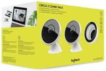 Logitech Circle 2 Combo Pack (2 wired cameras + window mount), White